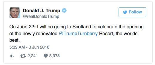 Trump-Skottland